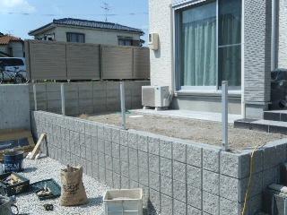 愛知県小牧市S様邸 ブロック・フェンス工事施工実績