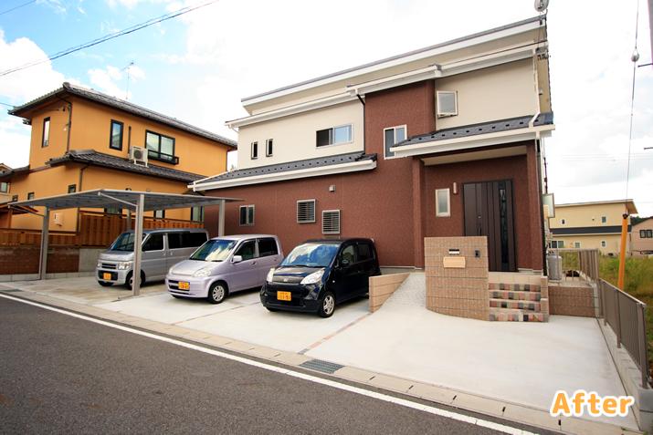 岐阜県多治見市HA様邸 駐車場・カーポート工事施工実績