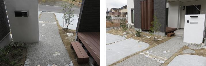 岐阜県土岐市あいもくモデルハウス 外構工事 施工実績