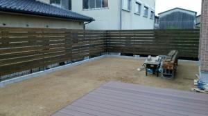 木製 フェンス 作成