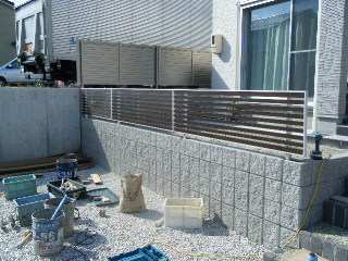 住宅 フェンス工事