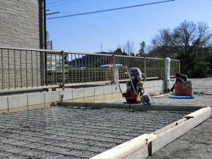 土間コンクリート準備