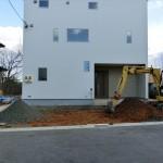 外構工事開始!~重機を使用しての床掘作業~