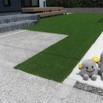 雑草対策万全♪人工芝のあるお庭