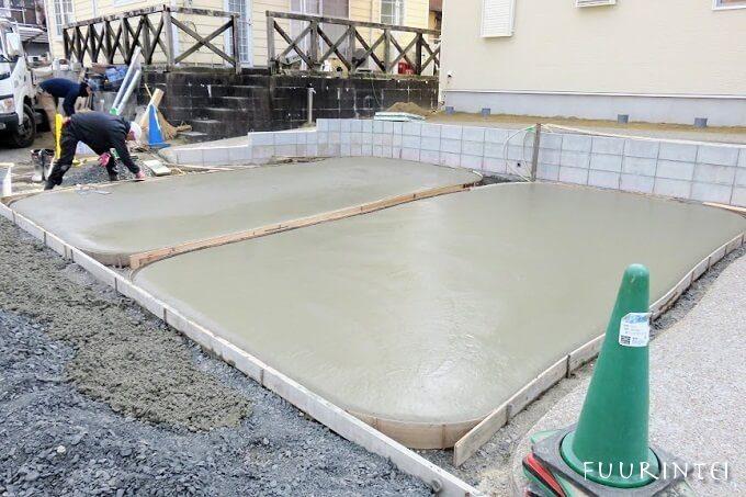 土間コンクリート 洗い出し